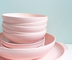 pink and dishes image