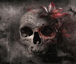 lillies and skull image