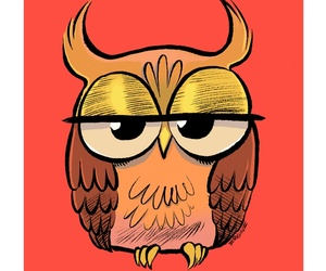 owl, art, and cute image