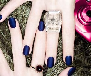azul, nails, and blue image
