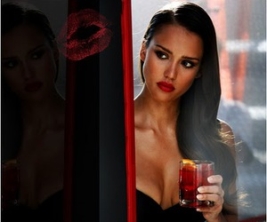 glamour, red lipstick, and beautiful image