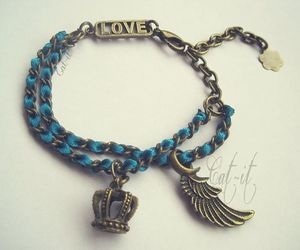 bracelet, love, and jewelry image