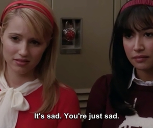 glee, Quinn, and subtitles image