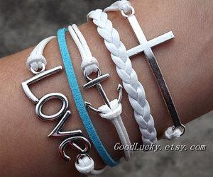 leather bracelet, braided bracelet, and love bracelet image