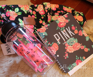 pink, flowers, and Victoria's Secret image