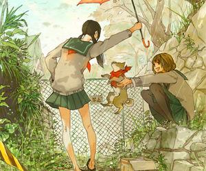 anime, cute, and dog image