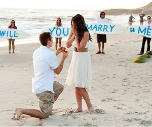 beach, marry me, and romantic image
