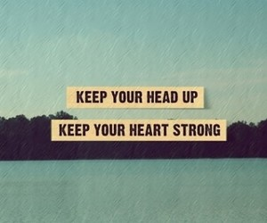 quote, strong, and heart image