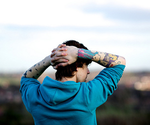 blue, tattoo, and outside image