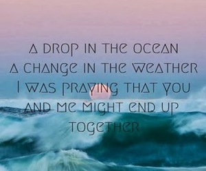together, beach, and quote image