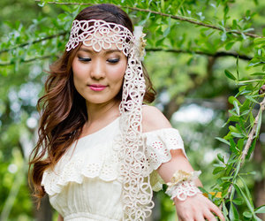 hair accessories, flower headpiece, and head piece image