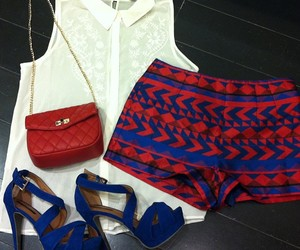 blue, fashion, and red image
