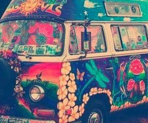 art, hippie, and peace image