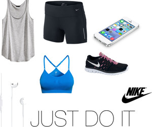 Just Do It, nike, and Polyvore image