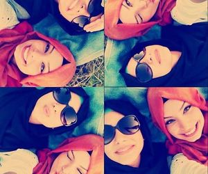 hijab and friends image