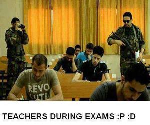 exam, funny, and teachers image