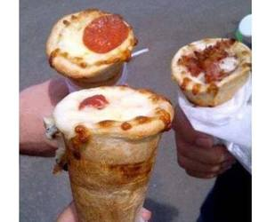 ice-cream and pizza image