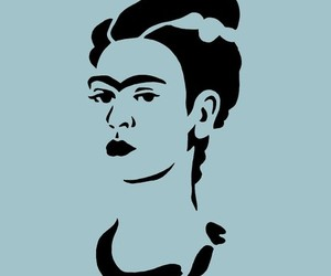 art, frida kahlo, and stencil image