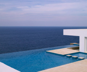 house, pool, and sea image
