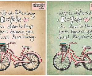 bicycle, quote, and bike image