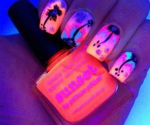 nails, neon, and cool image