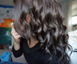 hair, brunette, and curly image