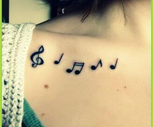 collarbones, ink, and music image
