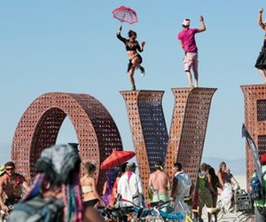 Burning Man and love image