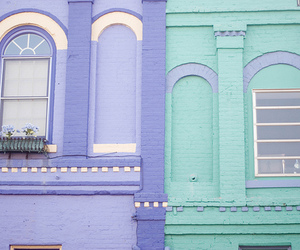 pastel, house, and purple image