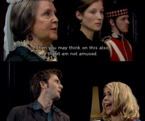 billie piper, david tennant, and not amused image