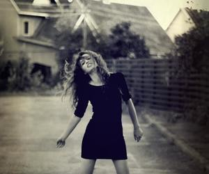 curly hair, dress, and girl image