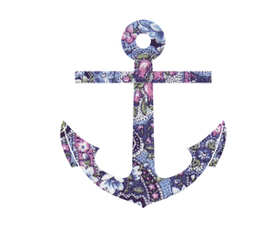 anchor, flowers, and cool image