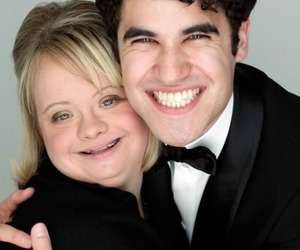glee, darren criss, and becky image