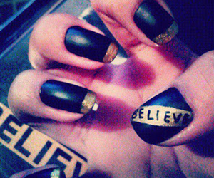 believe, justin bieber, and nails image
