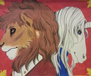 fancy, royal, and lion image