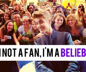 justin bieber, not a fan, and belieber image