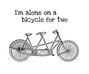 alone, bicycle, and M. ward image