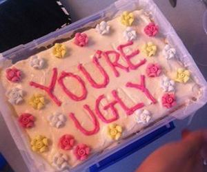 cake, ugly, and flowers image