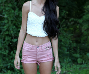 corset, fall fashion, and high waisted shorts image