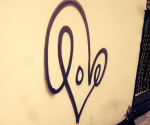 heart, typography, and love graffiti image