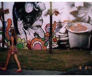 girl, skinny, and street art image