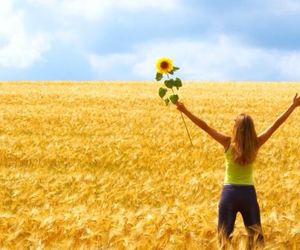flowers, happiness, and open space image