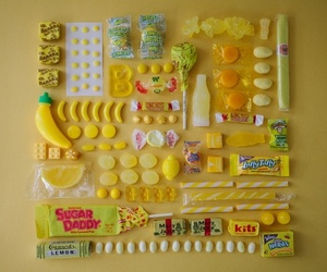 candy, colorful, and yellow image