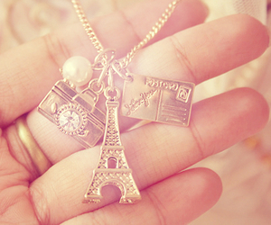 paris, necklace, and camera image