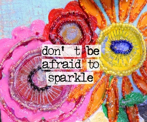 sparkle, quotes, and flowers image