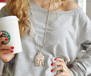 starbucks, girl, and nails image