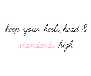 quote, heels, and high image