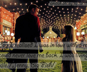 big fish, fairytale, and in love image