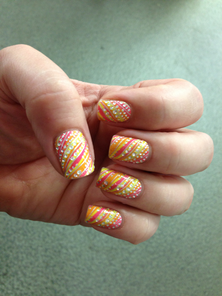 Avon Nail Art Design Strips Catch The Wave On We Heart It