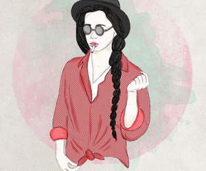 art, fashion illustration, and watercolor image